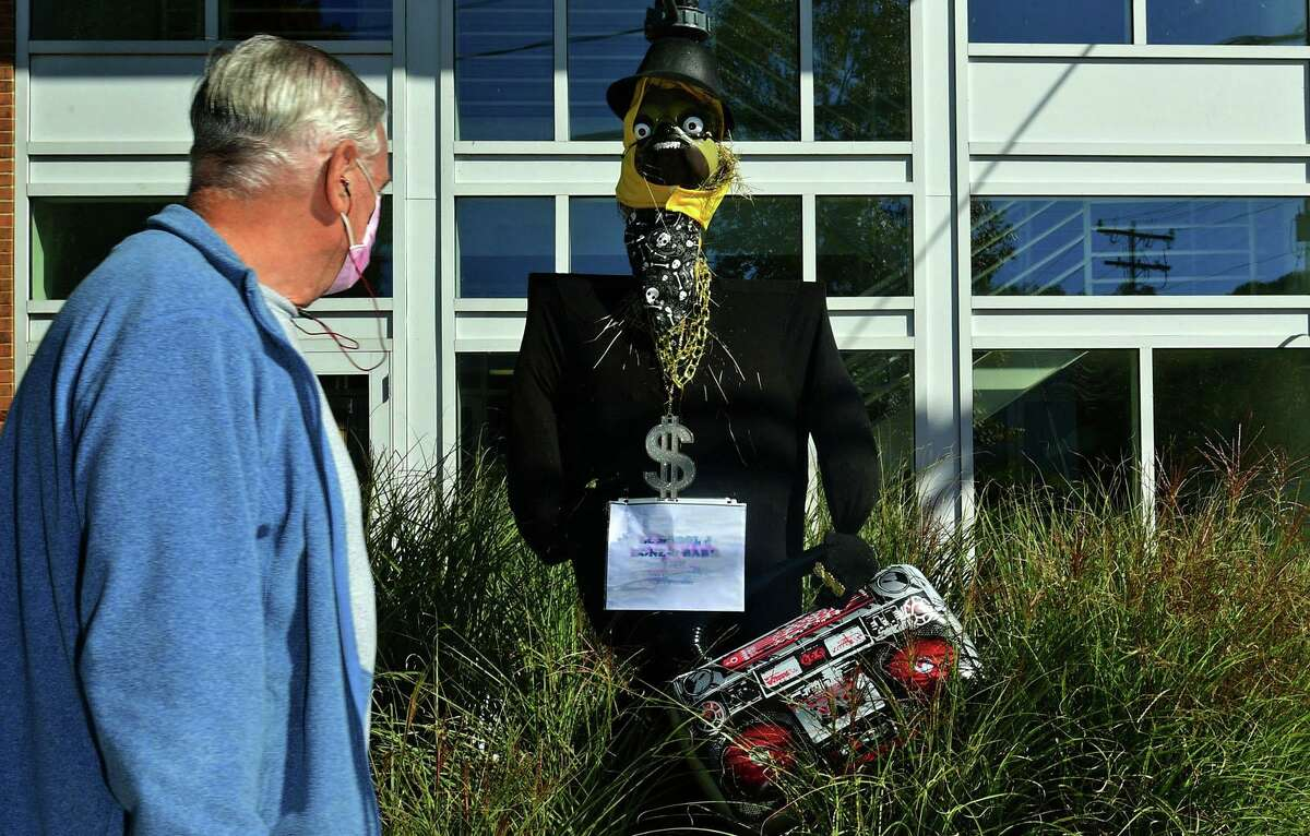 """Visitors are invited to Wilton Center to take part in the town's """"Scarecrow Scavenger Hunt,"""" now through Nov. 2."""