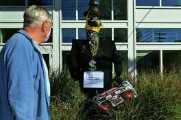 "Visitors are invited to Wilton Center to take part in the town's ""Scarecrow Scavenger Hunt,"" now through Nov. 2."