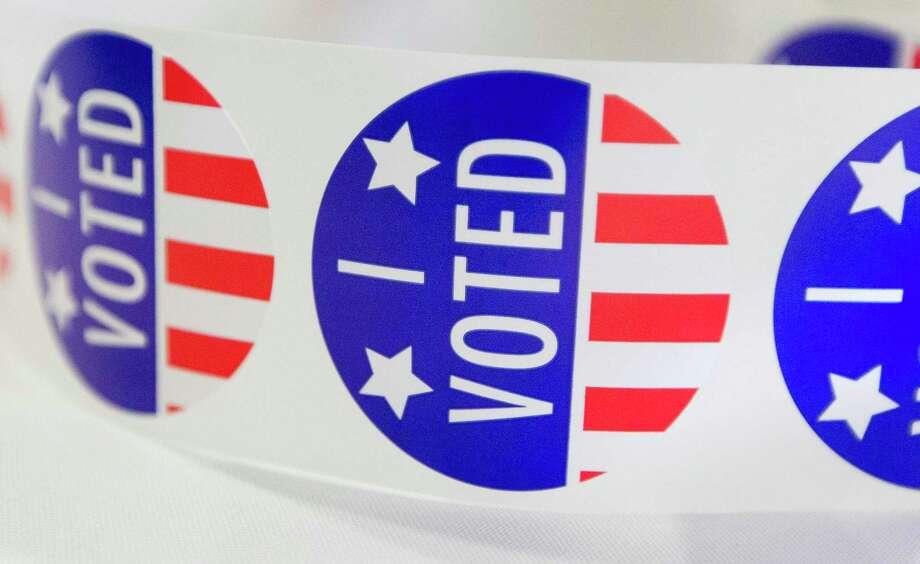 """File photo of """"I voted"""" stickers on Wednesday, Nov. 2, 2016 Photo: Jason Fochtman / Houston Chronicle / Houston Chronicle"""