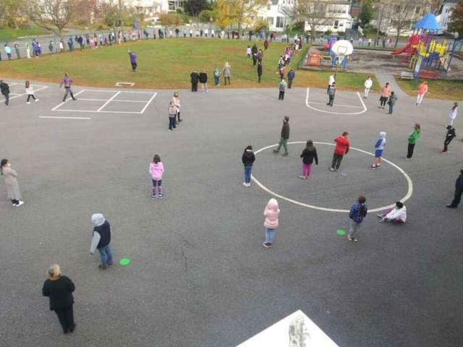 Students celebrated being together with an outdoor gathering at Southwest School in Torrington. Photo: Contributed Photo