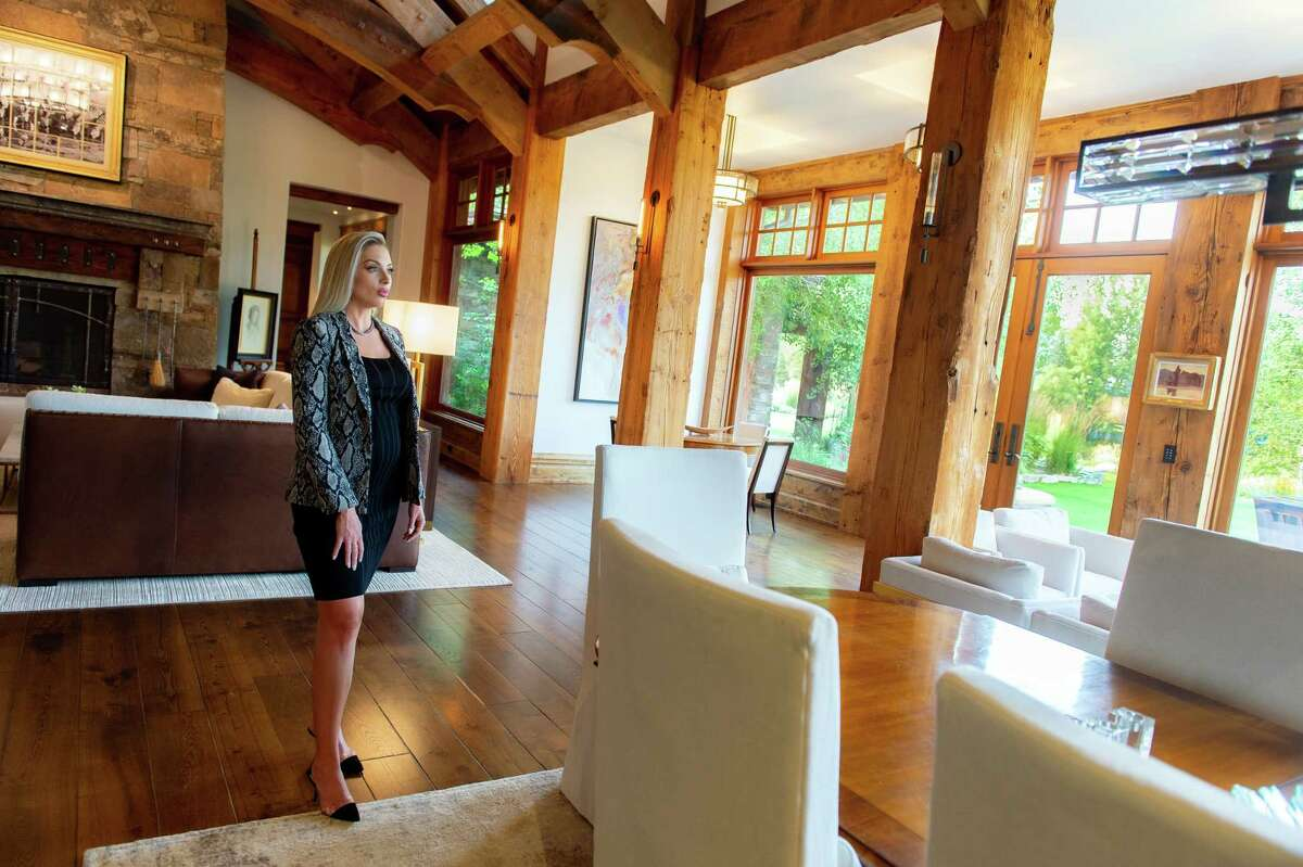 Charlotte Durham inspects Bozeman's Old River Farm property, which was listed for $10.9 million. A buyer from the Midwest recently moved in.