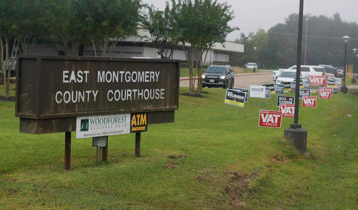 The East Montgomery County Court Annex is one of two new voting locations in Montgomery County. Montgomery County commissioners unanimously approved opening early voting centers at the court annex and Spring Creek Greenway Nature Center during a special meeting Monday, Oct. 19, as voter turnout continues to sore surpassing 2016 totals by just over 4,100 in the first five days of early voting.