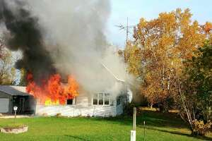 A Filion house is fully engulfed in fire. (Huron County Sheriff's Office/Courtesy Photo)
