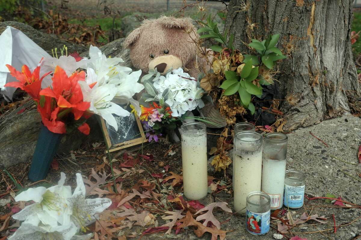 A small memorial remains at the scene where Jorge