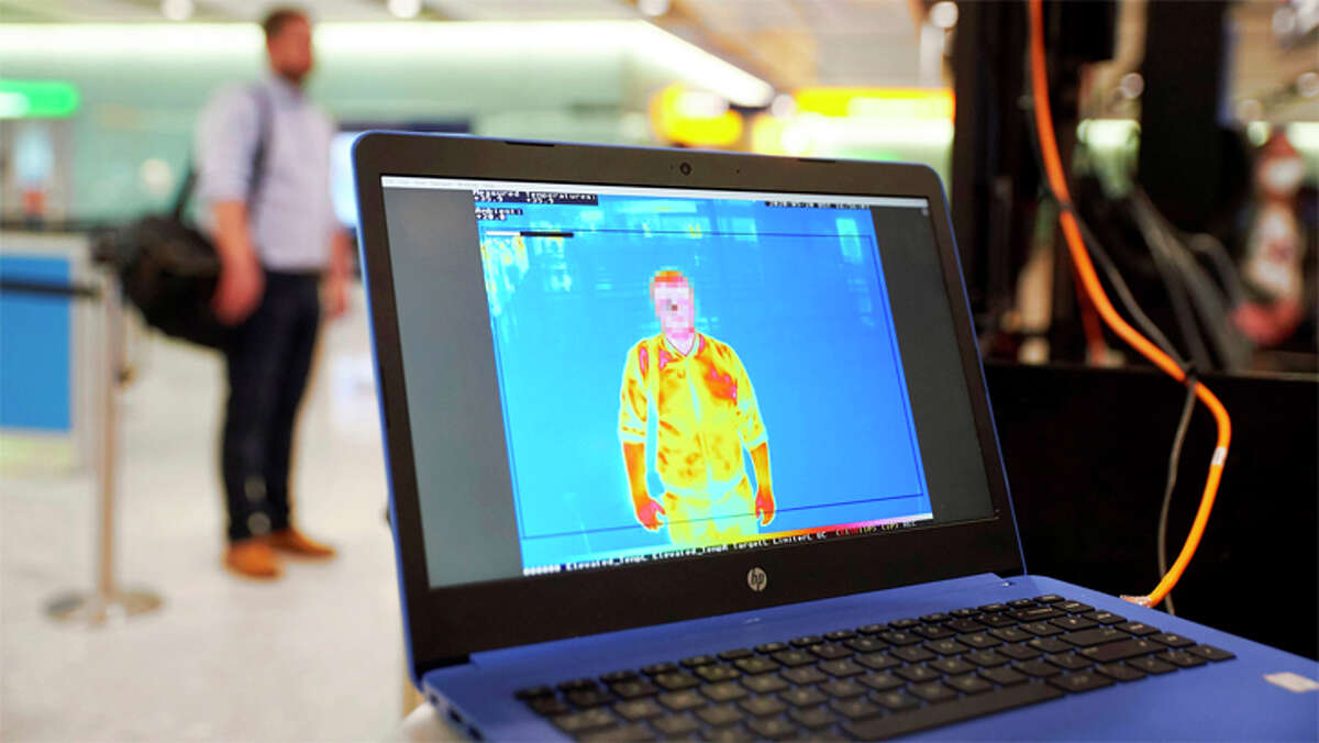 Many foreign airports routinely use thermal scanners to look for travelers with elevated temperatures.