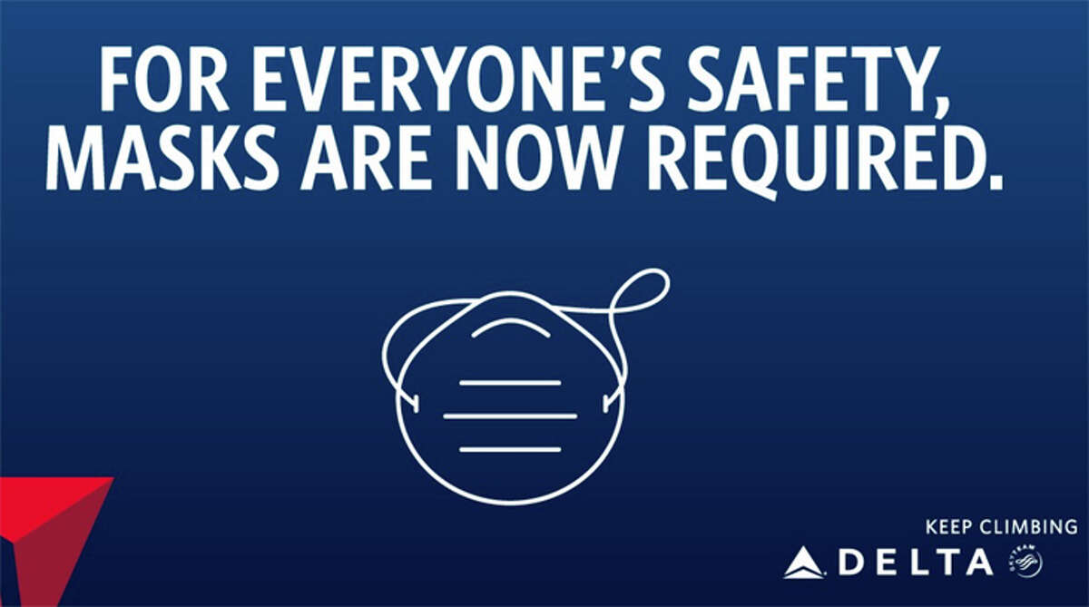 Airlines make sure all travelers are aware of mask policies before they board.