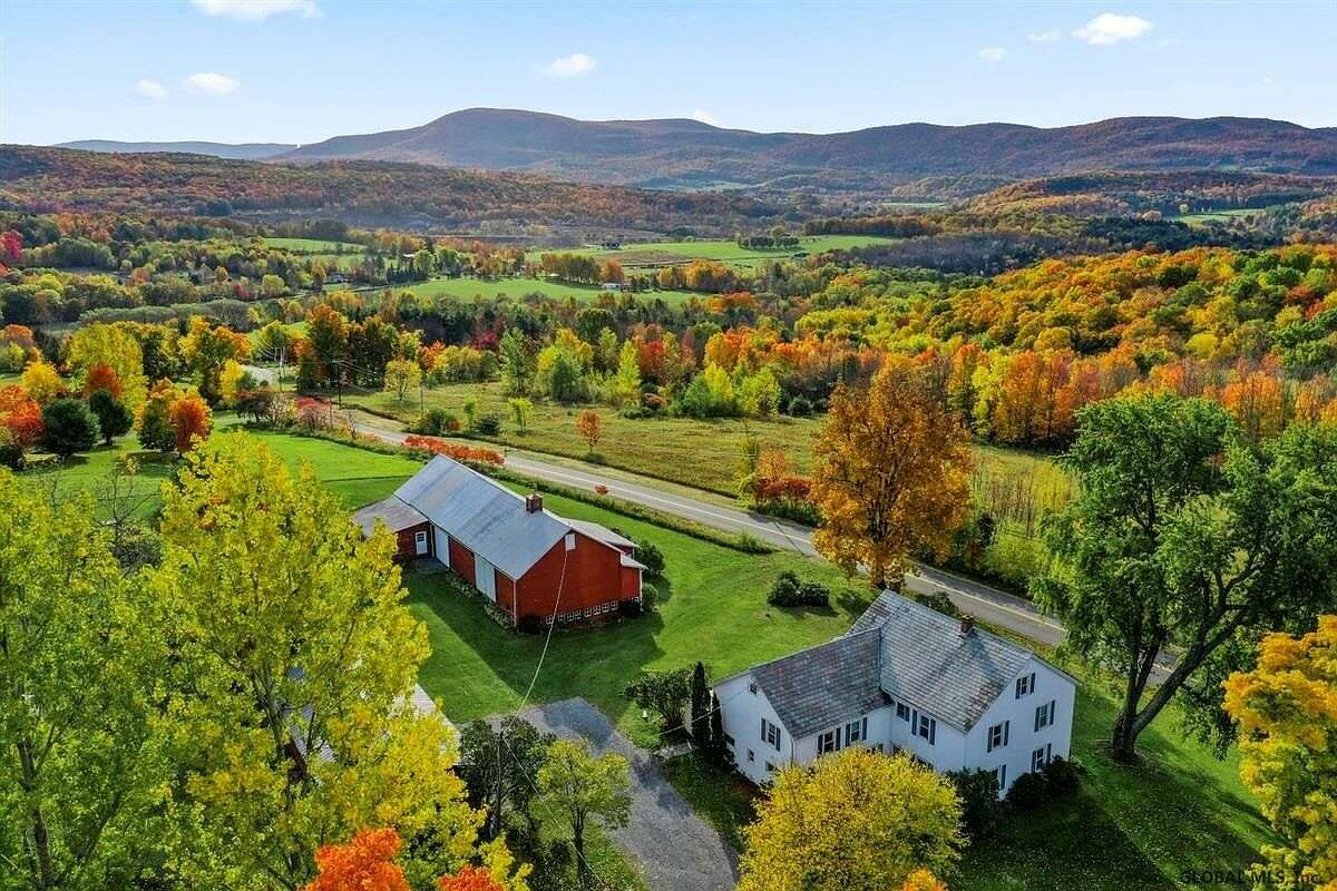 Scroll through the selections below to see five stunning farmhouses currently on the market in the Capital Region.