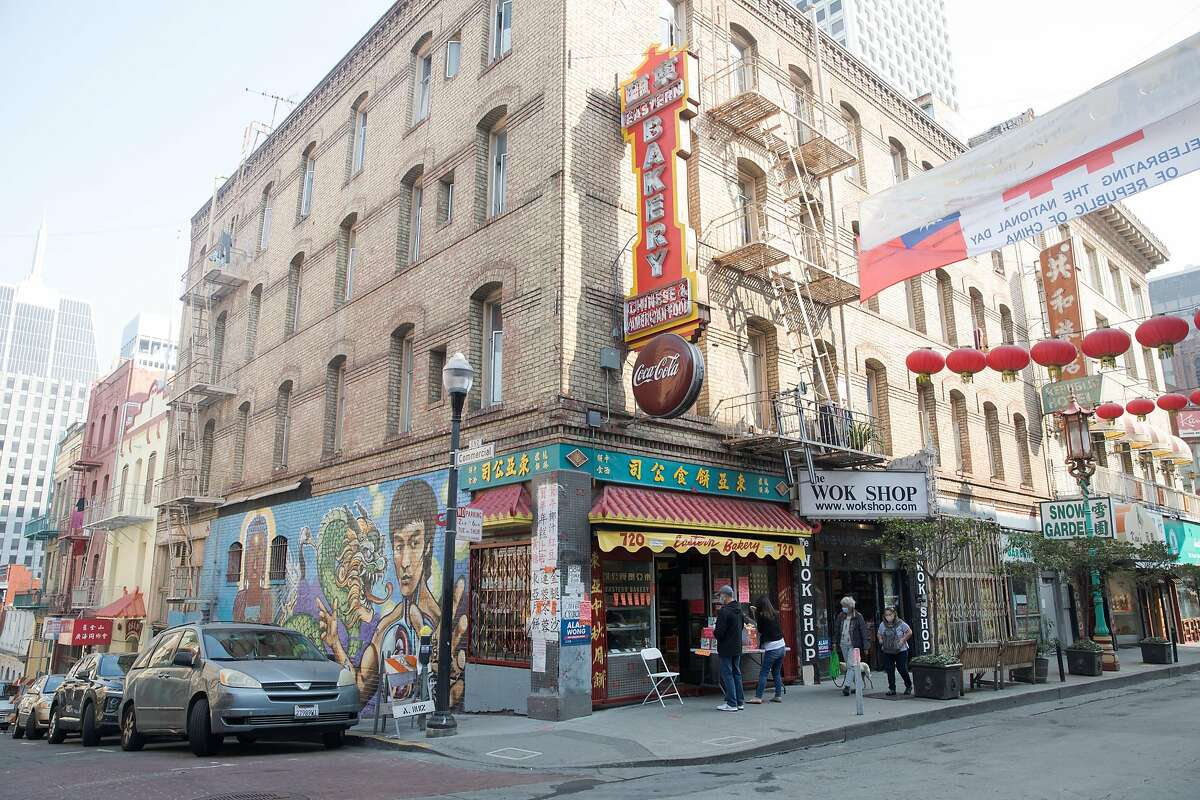 The exterior of Eastern Bakery on Grant Avenue in San Francisco on Oct. 7, 2020. It is the oldest bakery in San Francisco's Chinatown.