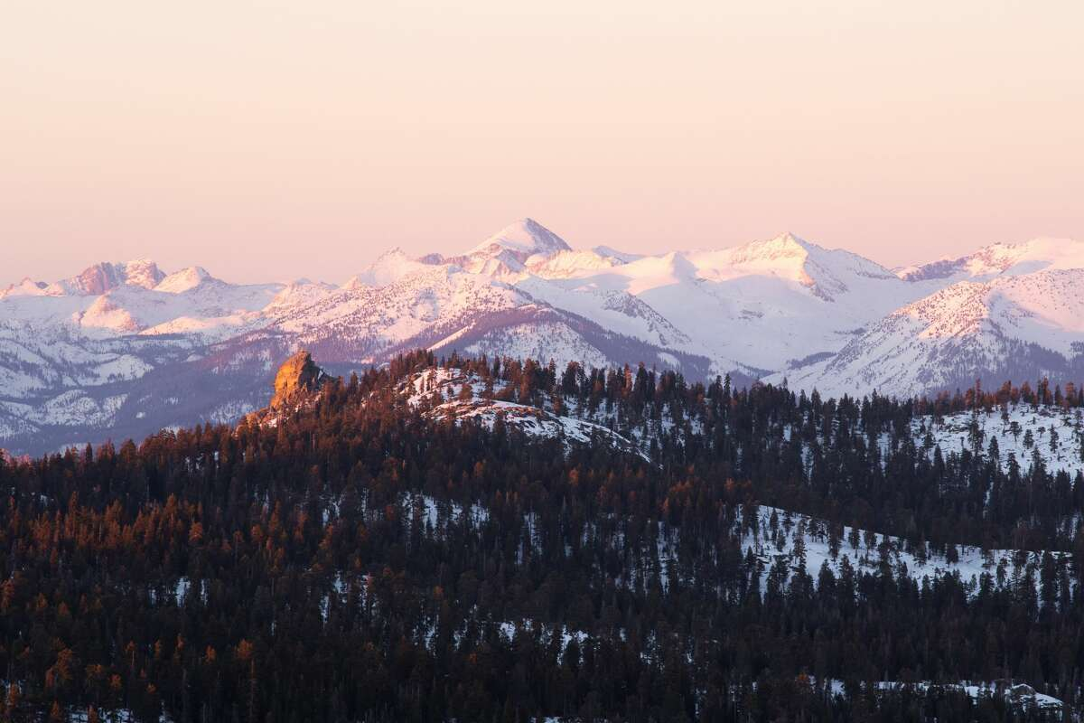 A view of Sequoia National Park in winter.