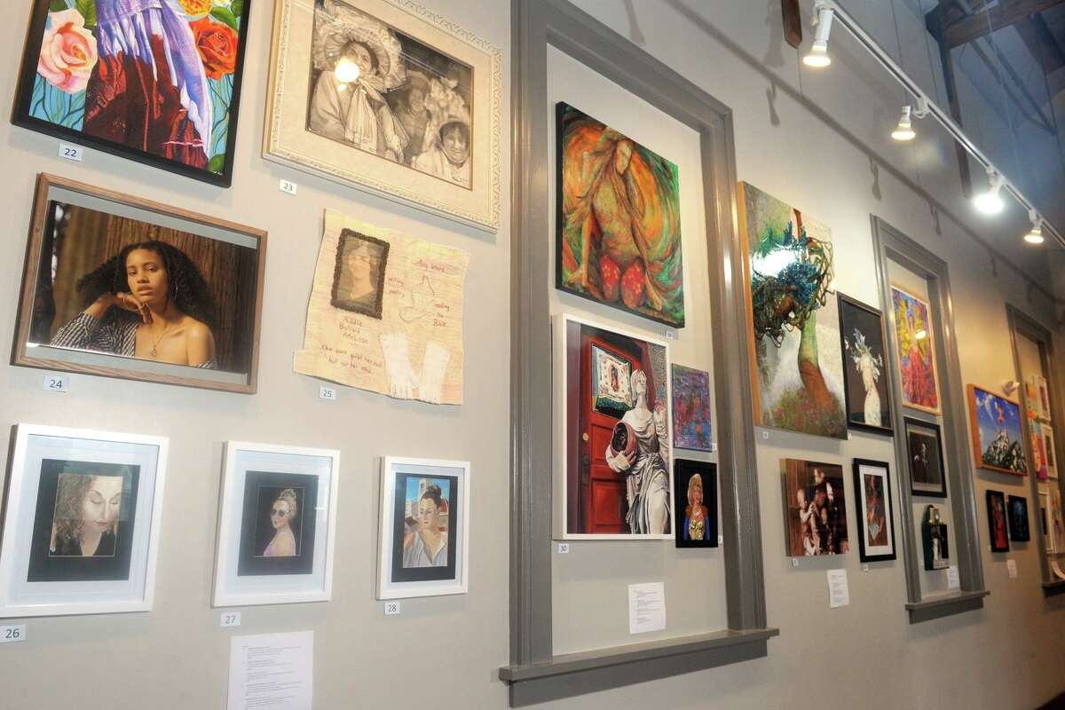 The Story of Women exhibit currently on display at the Milford Art Council.