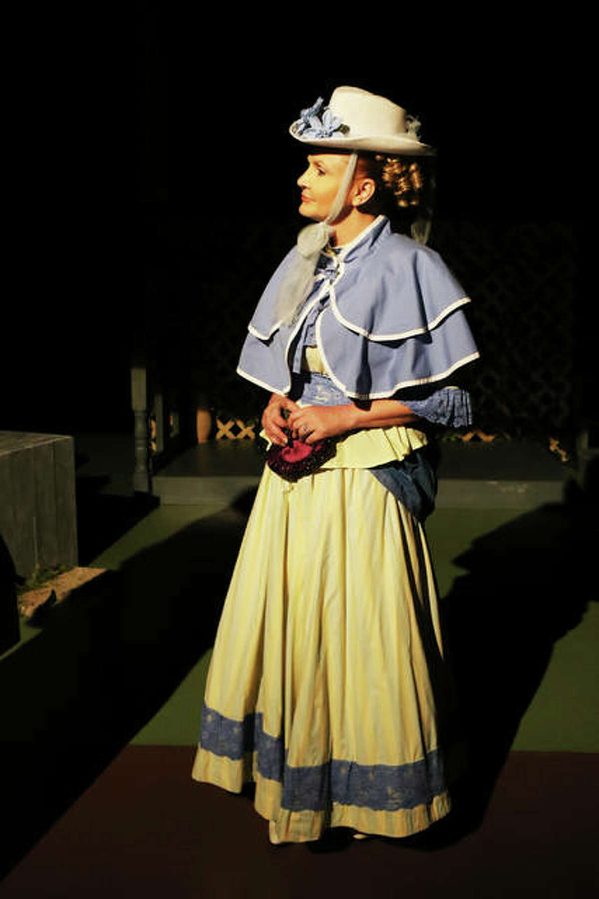 """Kate Keller (Shawn Chevalier) goes to pick up teacher Annie Sullivan in the Alton Little Theater production of """"The Miracle Worker."""""""