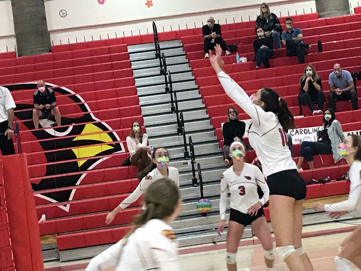 Greenwich junior Liana Sarkissian helped lead the Cardinals to a 3-0 win over Stamford.