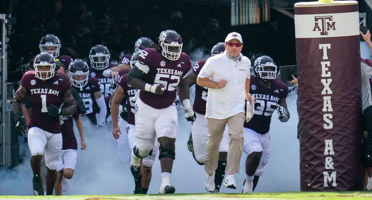 Texas A&M coach Jimbo Fisher reminds his players not to get carried away by early media attention.