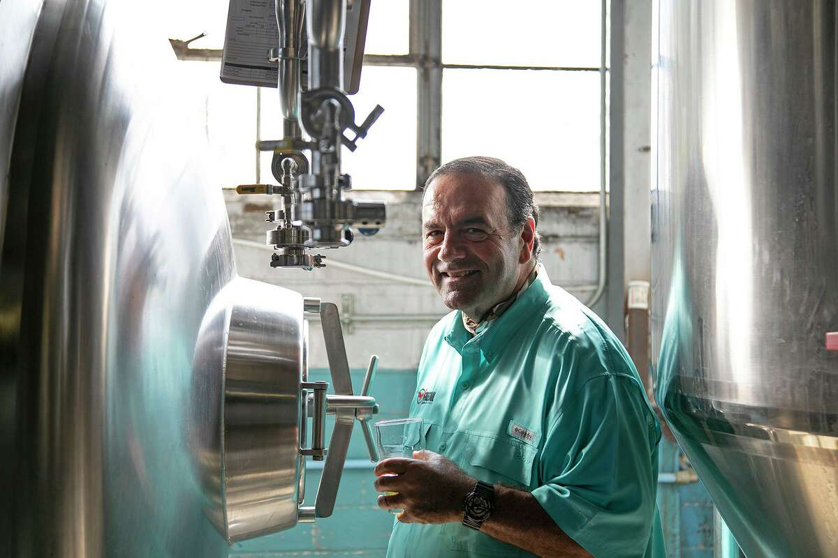 Bill Sisoian, president of Freetail Brewing, stands in the brewery at Freetail Brewing Co. in San Antonio on Friday, Oct. 16, 2020.