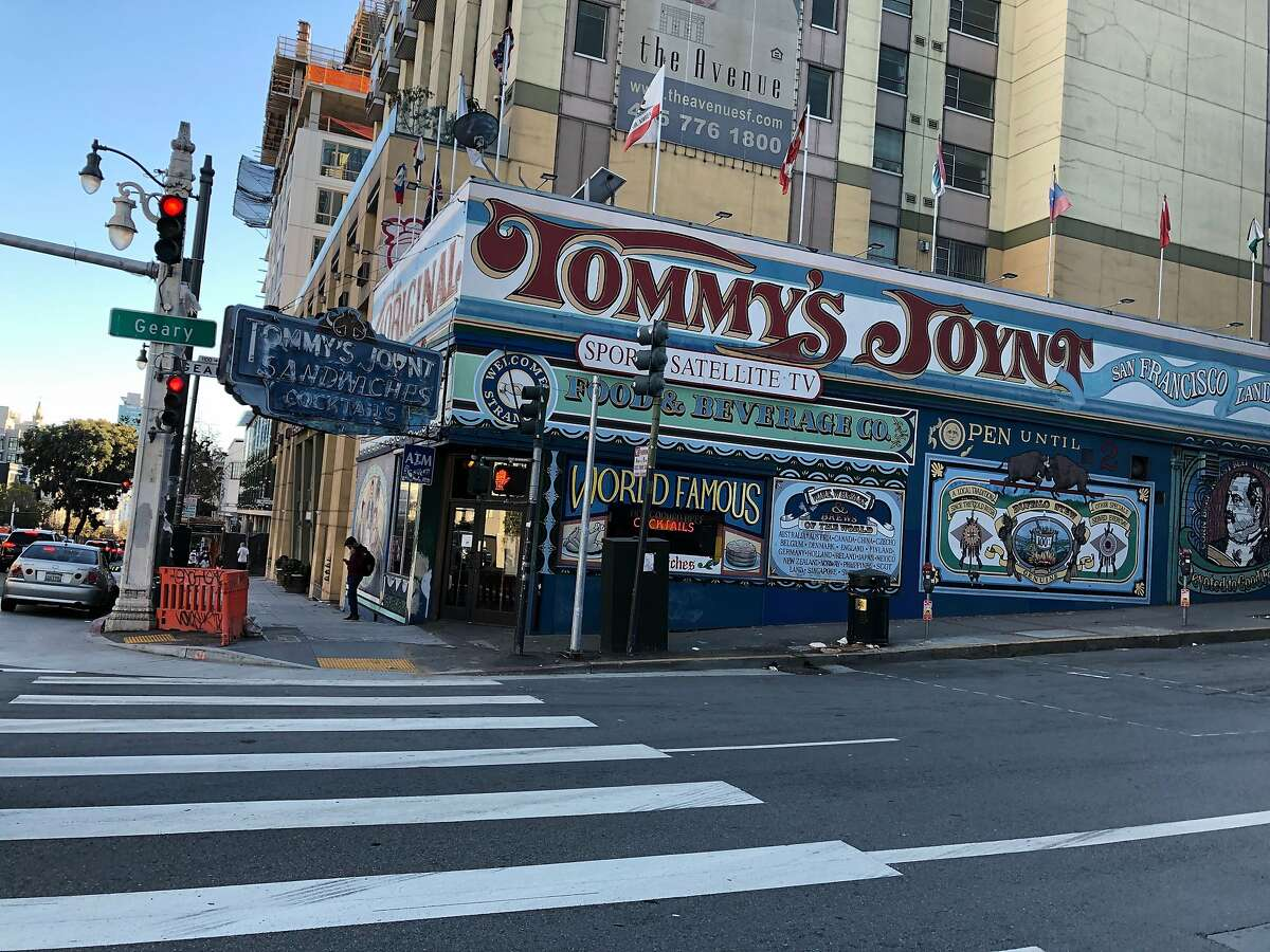Tommy's Joynt, pictured Tuesday after its plywood covering was removed, is set to reopen on Oct. 29.