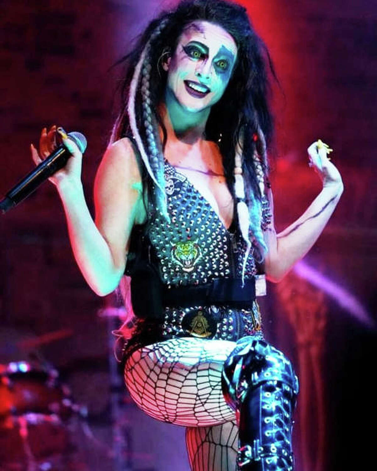 """Lead singer of Beasto Blanco, Calico Cooper, daughter of shock rocker Alice Cooper, is a featured guest of The Dark Zone TV's virtual haunting tour, """"Queen Mary."""""""