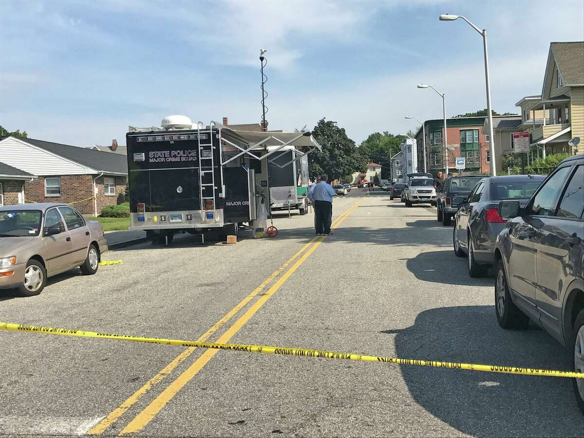 Police responded to a report of shots fired just before 2 a.m. on Anson street near Fifth Street in Derby, Conn., on Friday, August 11, 2017. JaJuan Benavides, 21, of Naugatuck was pronounced dead at the hospital a short time later.