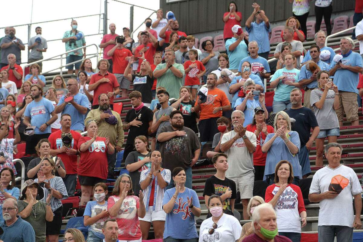 Lumberton's fans applaud as the Raiders get ready to face Coldspring - Oakhurst at home Friday. Photo taken Friday, September 4, 2020 Kim Brent/The Enterprise