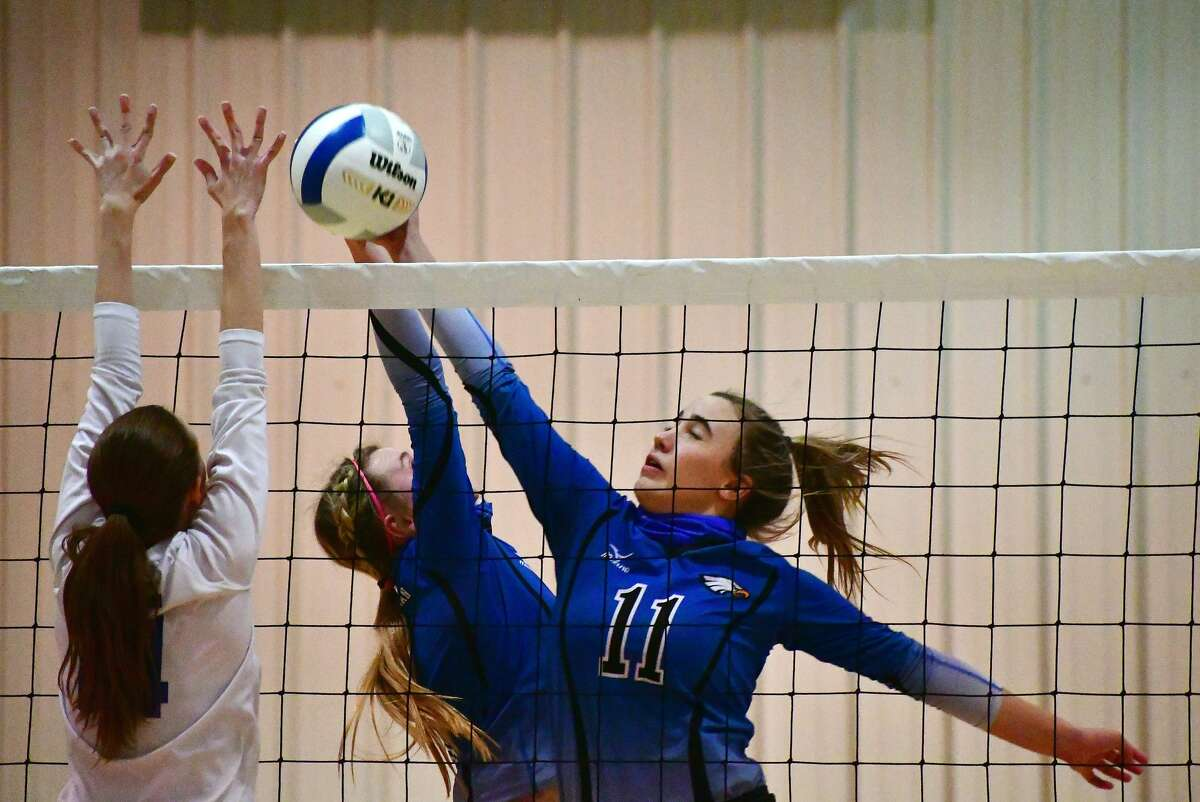 The Plainview Christian Academy volleyball team fell 3-0 to Lubbock Home School in a high school volleyball match on Tuesday, Oct. 20, 2020 at PCA.