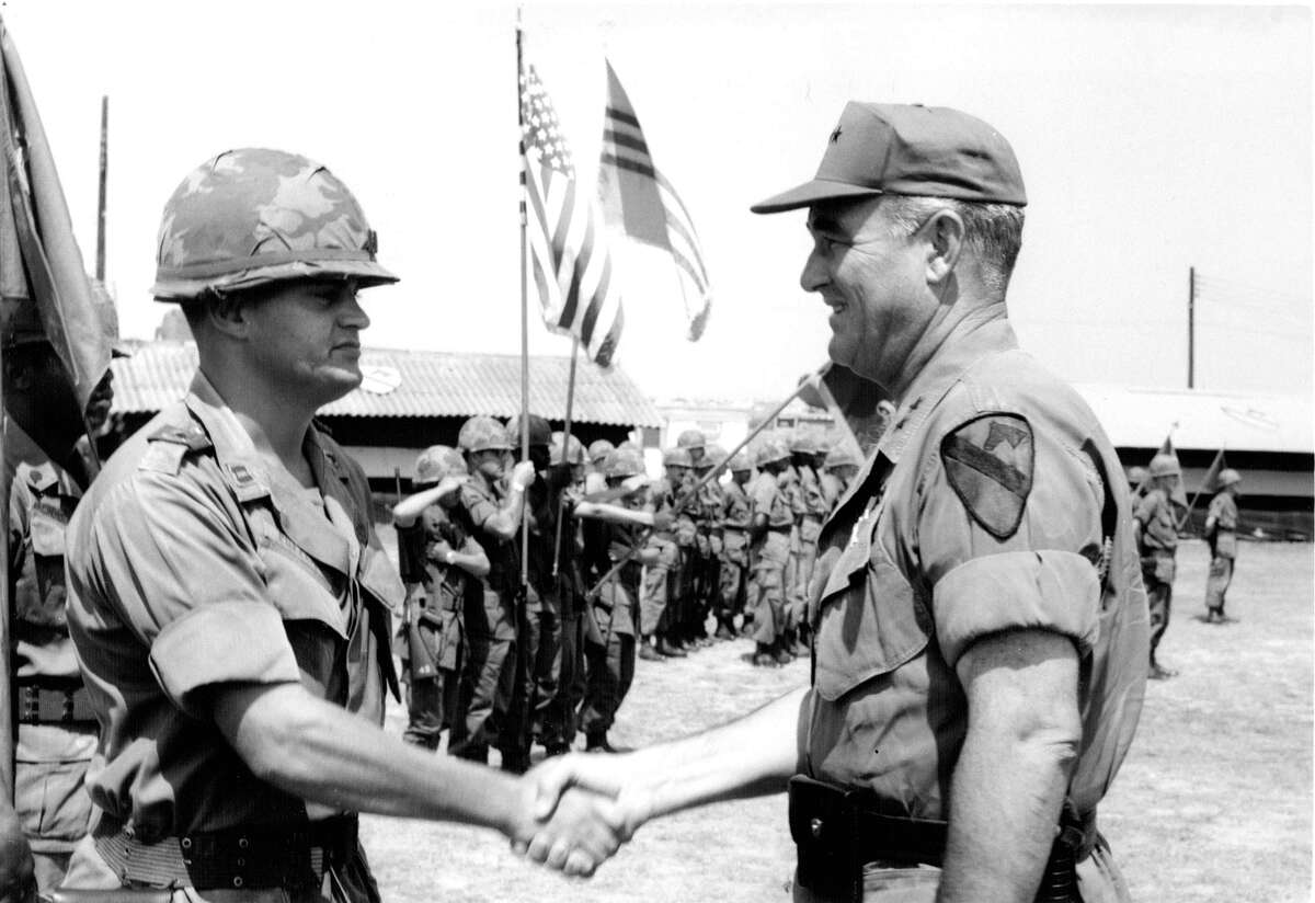 West Point graduate Raymond Puffer (left) was just 24 when he took command of a frontline fire base in Vietnam in 1971. He didn't lose a single man. The devoutly religious Watervliet Republican mentored cadets as a professor. He is one of 1,200 West Point alums who signed an open letter to cadets imploring them to be guided by their values should there be post-election day violence or civil unrest. The letter also reminded them they swore a sacred oath to the Constitution, not an individual leader or elected official.