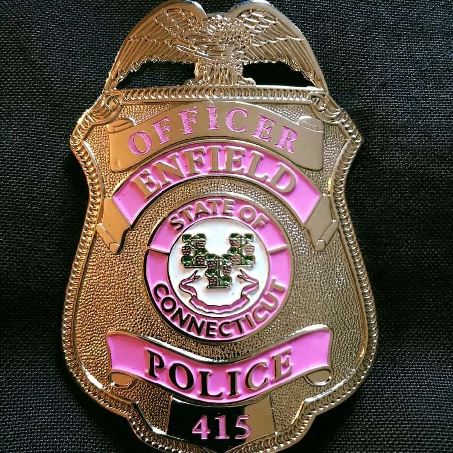 A large pit bull that was attacking a woman was shot and killed by a police officer Tuesday afternoon on Oct. 20, 2020. Photo: Enfield Police Image