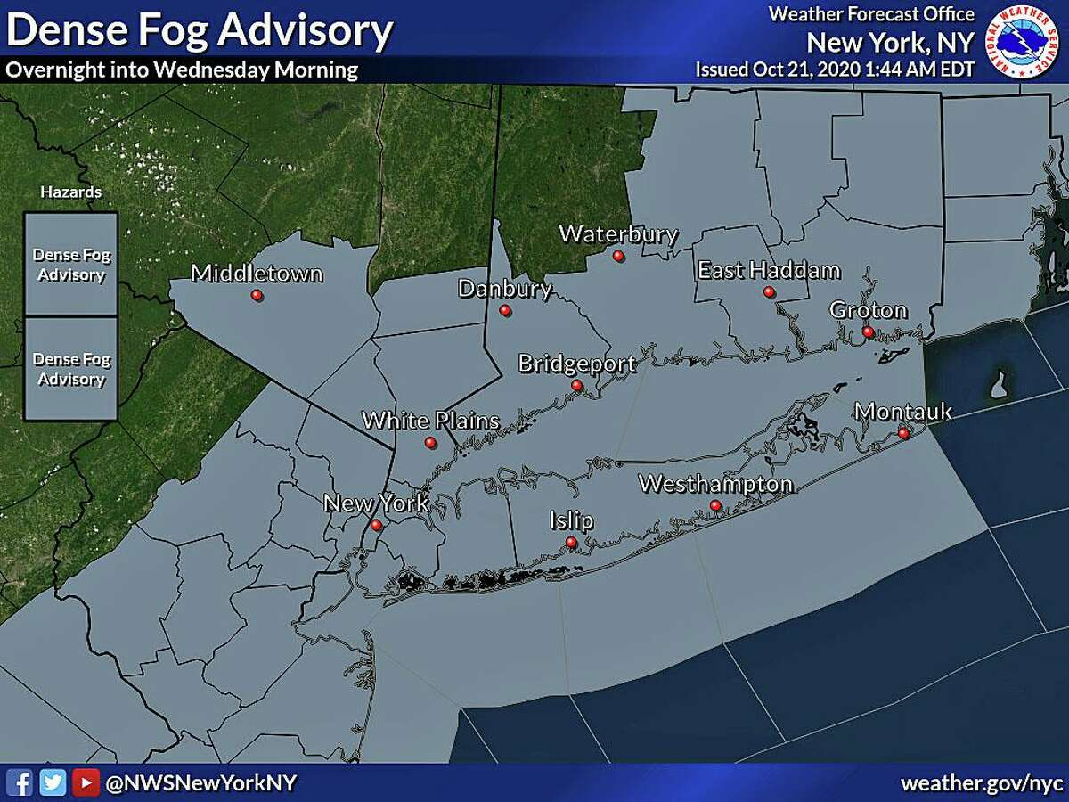 Some patchy fog could develop once again tonight into early Thursday, Oct. 22, 2020. Even more mild temperatures expected Thursday when more sunshine is expected.