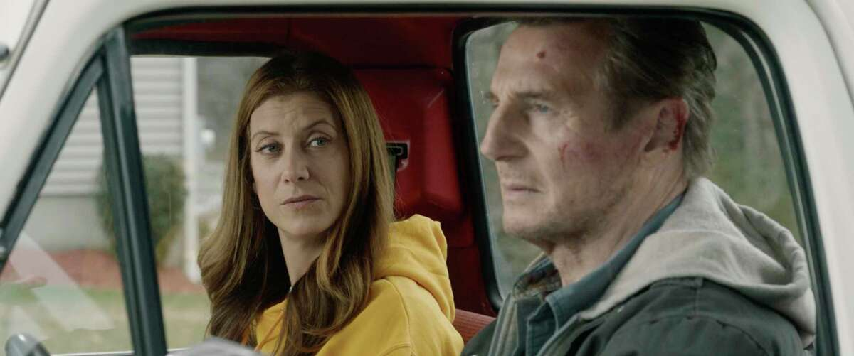 """This image released by Open Road Films shows Kate Walsh and Liam Neeson in a scene from """"Honest Thief."""""""