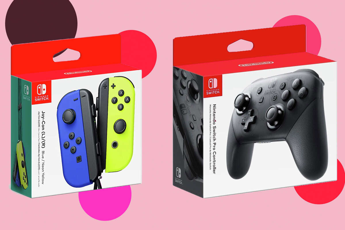 Blue/Yellow Joy Con for sale on Amazon