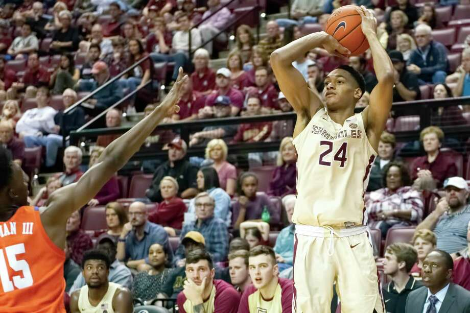 """Florida State shooting guard Devin Vassell projects as a prototypical """"3-and-D"""" wing in the NBA. Photo: Courtesy Of Florida State Athletics / All rights reserved"""
