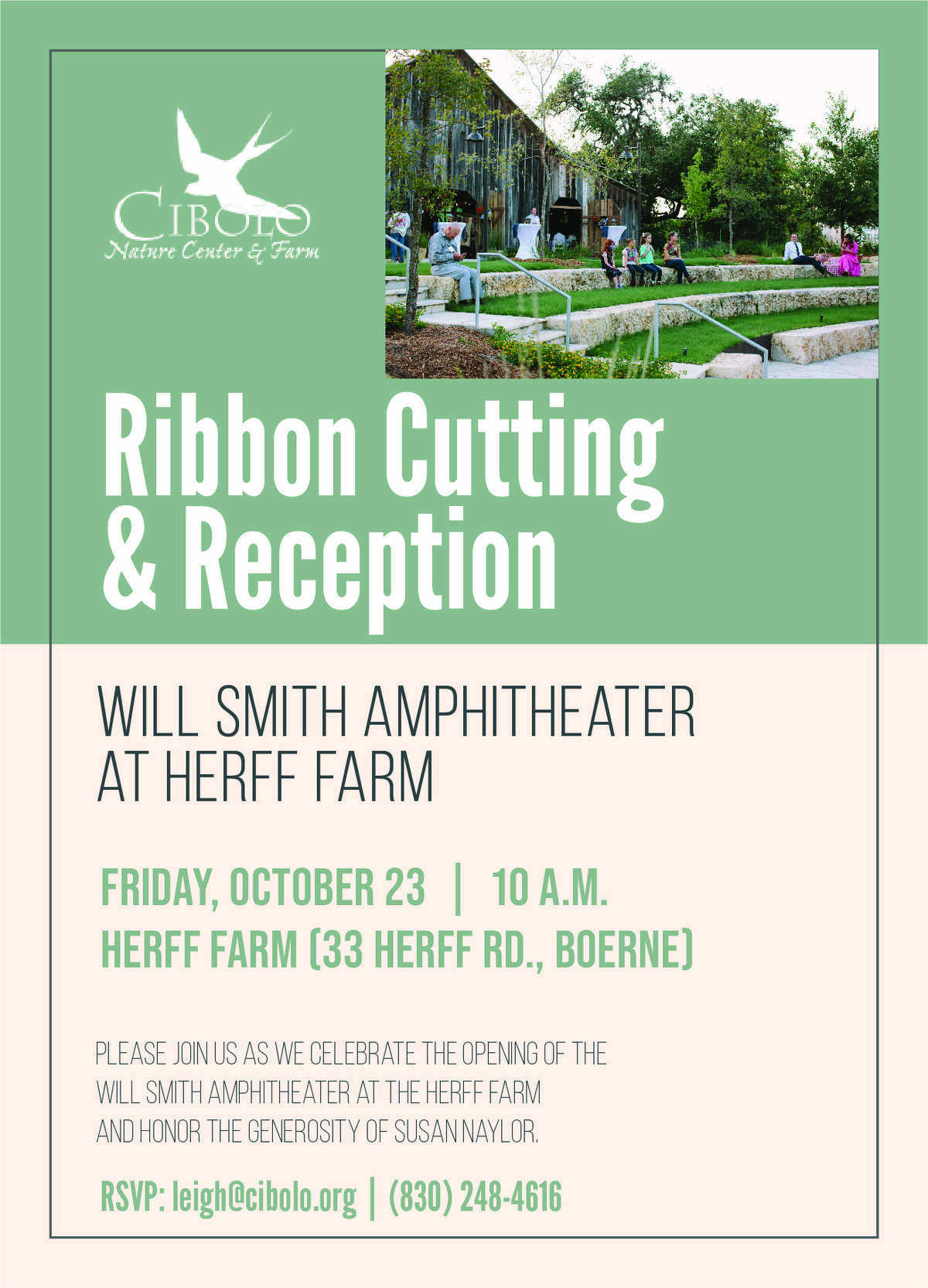 The Will Smith Amphitheater is a part of the new expansions at the Herff Farm.