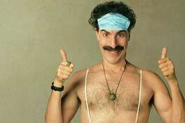 """Borat returns to America with his daughter in tow in """"Borat Subsequent Moviefilm."""""""