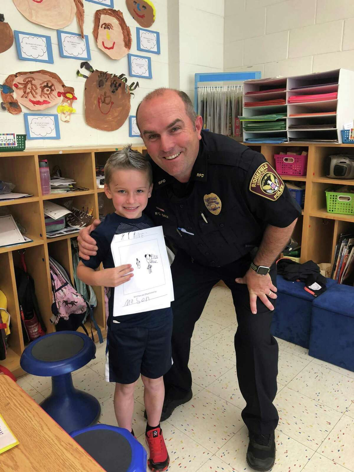Officer Chris Daly is a school resource officer in the elementary as well as the middle school level.