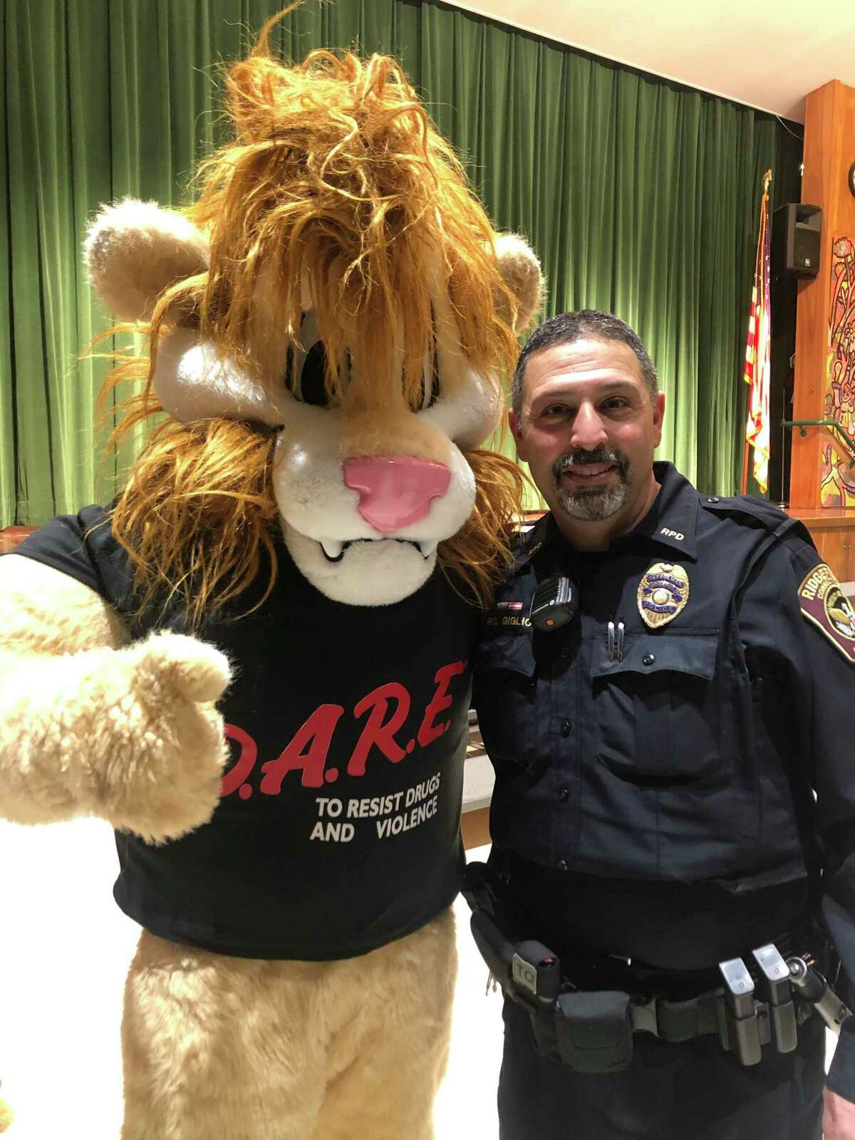DARE drug education classes are among the duties Mark Giglio handles as a school resource officer.