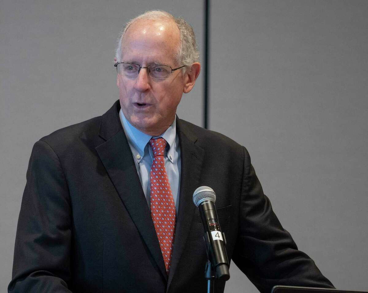 FILE PHOTO: Former Congressman Mike Conaway speaks 10/21/2020 and thanks everyone for their support over the years at the Ector County Republican Women's luncheon. Tim Fischer/Reporter-Telegram