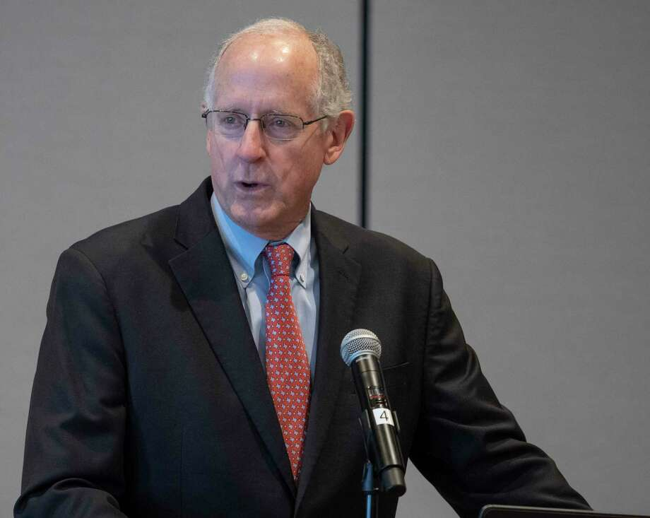FILE PHOTO: Former Congressman Mike Conaway speaks 10/21/2020 and thanks everyone for their support over the years at the Ector County Republican Women's luncheon. Tim Fischer/Reporter-Telegram Photo: Tim Fischer, Midland Reporter-Telegram