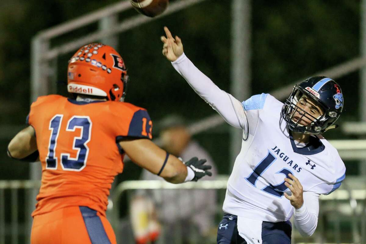 Johnson quarterback Ty Reasoner enters Friday's 28-6A showdown with Brandeis as the district's leading passer.