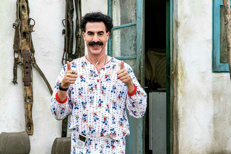 """This image released by Amazon Studios shows Sacha Baron Cohen in a scene from """"Borat Subsequent Moviefilm."""" Photo: Associated Press / Courtesy of Amazon Studios"""