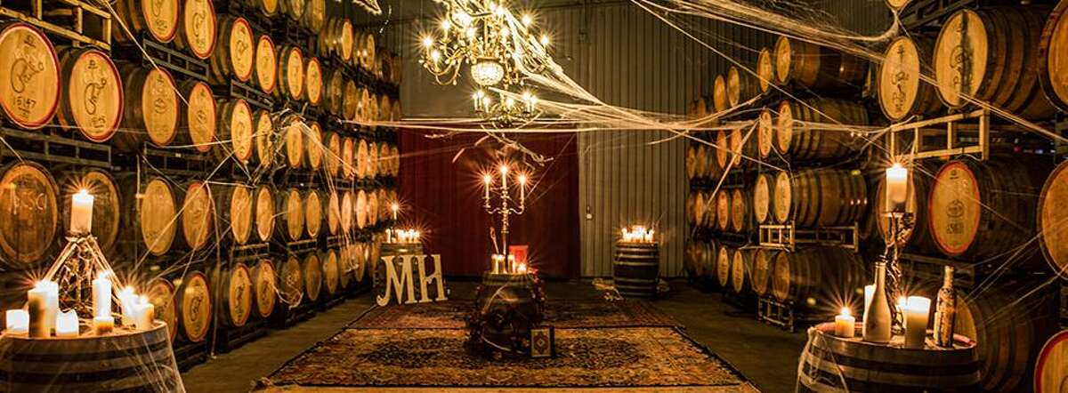 Enjoy a spooky wine tasting at Messina Hof in Bryan featuring four award-winning wines, a few special surprises, and a sophisticated haunted tour of how wine is made in the