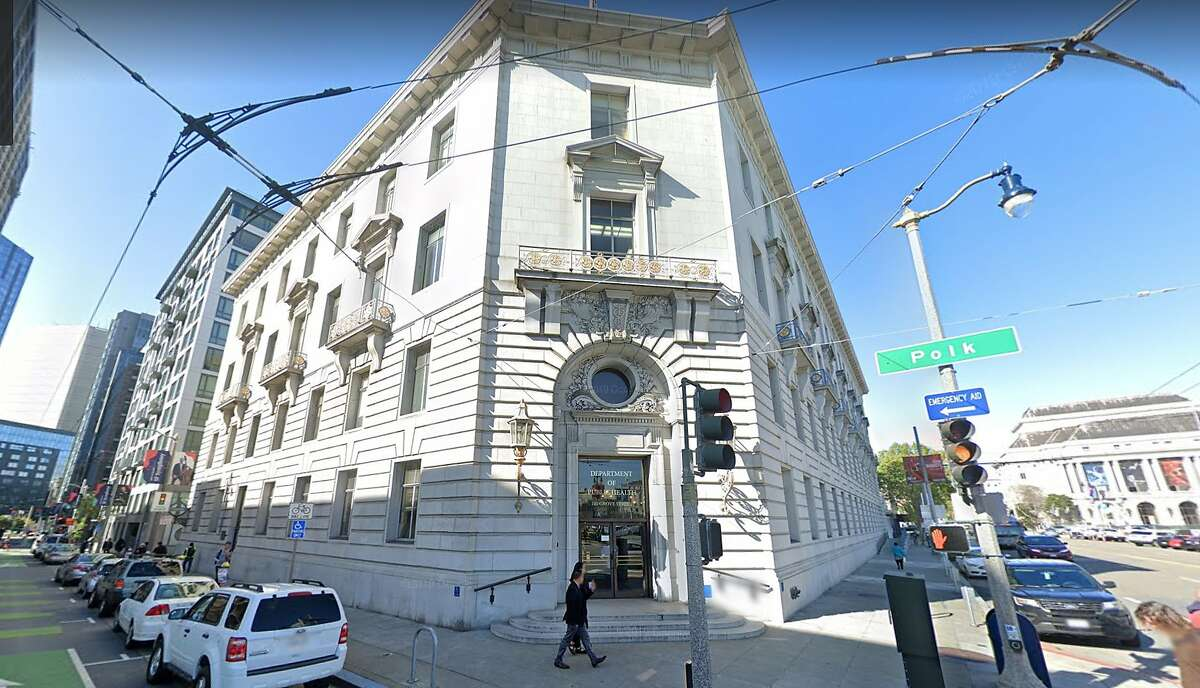 The San Francisco Department of Public Health, shown in this Google street view image, is being sued for racial discrimination.