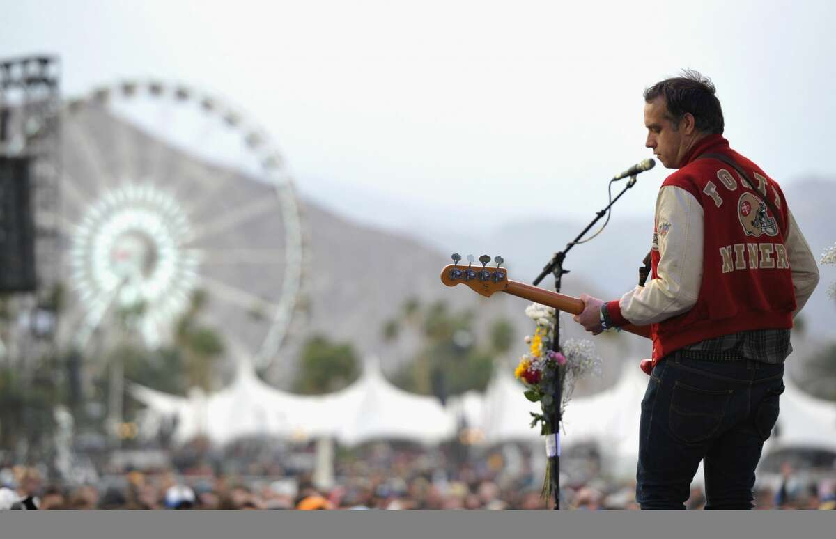 """Chet """"JR"""" White of the band Girls performs during Day 1 of the 2012 Coachella Valley Music & Arts Festival held at the Empire Polo Club on April 13, 2012, in Indio, Calif. White died at his family's home in Santa Cruz in October."""