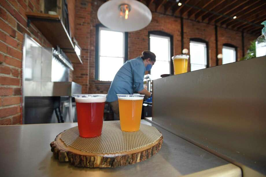 Half Full Brewery new gathering place, Third Place, on Pacific Street in Stamford, Connecticut on June 25, 2020. Photo: Matthew Brown / Hearst Connecticut Media / Stamford Advocate
