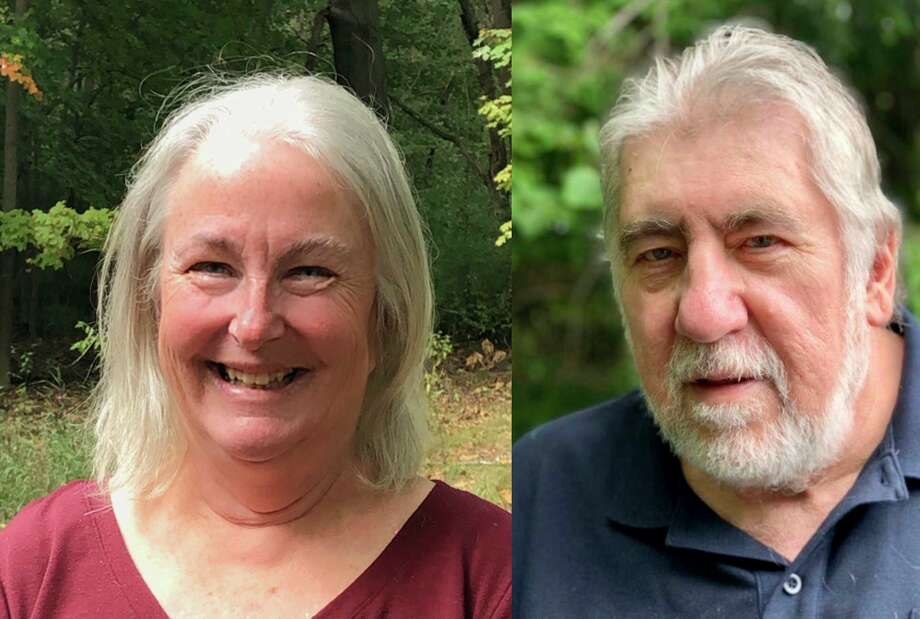 Democrat Jean Capper (left), Republican Allen Taylor (right) and Republican Robert Blackmore (no photo provided) are all seeking a position as Onekama Township trustee, however there are only two spots on the Nov. 3 ballot. (Courtesy photo)