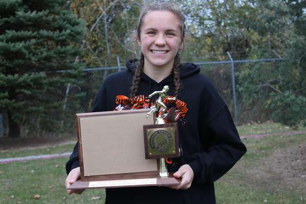 Ubly sophomore Maze Gusa finished first in the girls 5,000 meters event to win the Greater Thumb Conference East title at the league meet in Brown City on Tuesday.  Maze, who led the race from start to finish, completed the race with a time of 20:05.