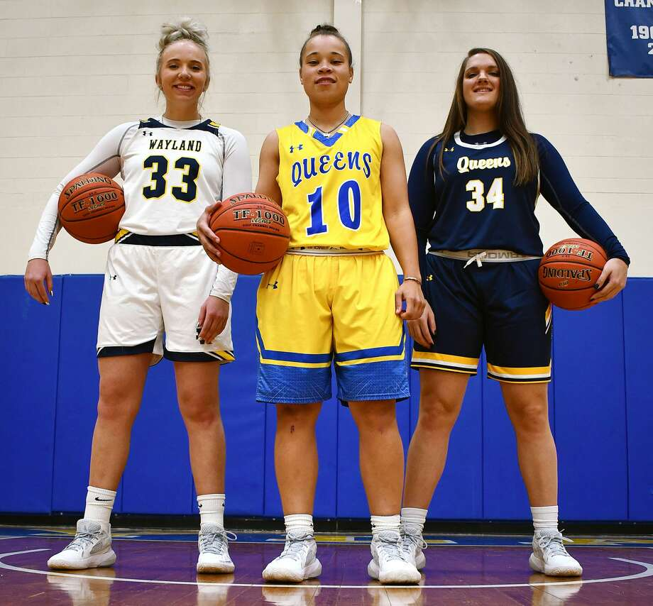 Jenna Cooper, Payton Brown and Kaylee Edgemon have their sights set on the national championship the Wayland Baptist women's basketball team never got the chance to play for last year. Photo: Nathan Giese/Planview Herald