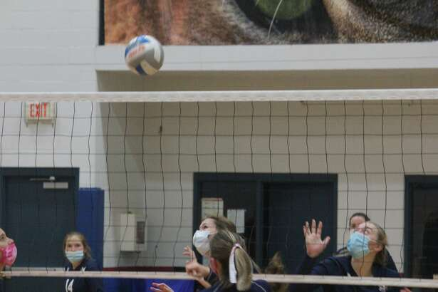 Crossroads Charter Academy's volleyball team pulled out a 3-2 win over Montabella on Wednesday.