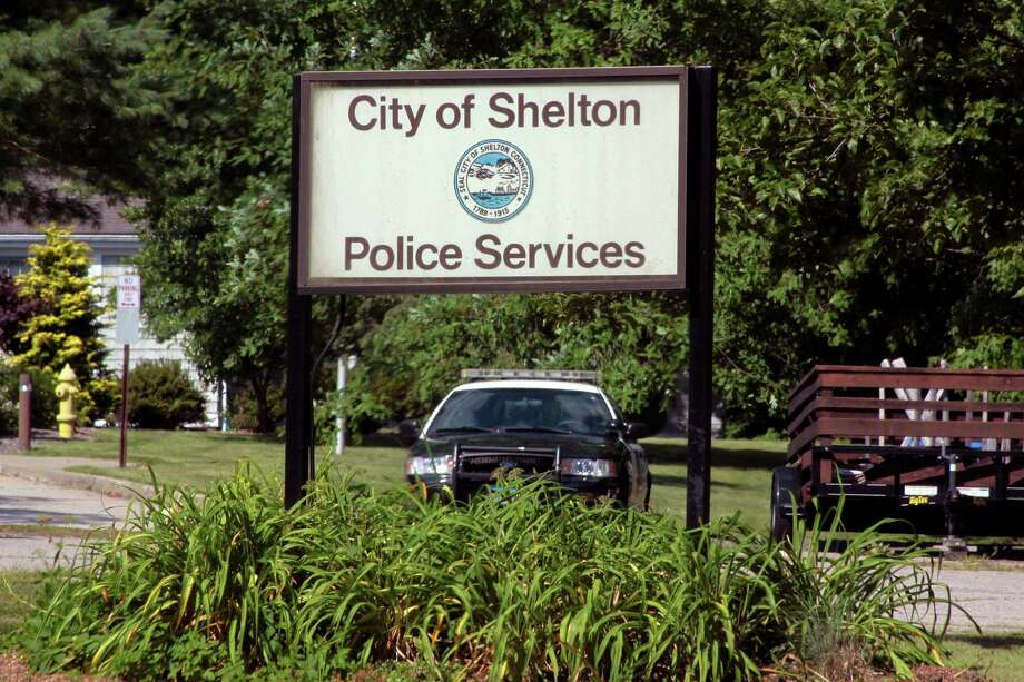 A view of the Shelton Police Department sign in Shelton, Conn., on Tuesday June 21, 2020. Photo: Christian Abraham / Hearst Connecticut Media / Connecticut Post