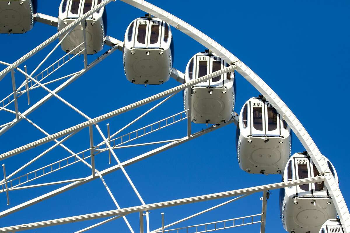 The SkyStar Observation Wheel has thirty-six enclosed gondolas. The ride opened to the public at the Golden Gate Park Music Concourse in San Francisco, California on October 21, 2020.