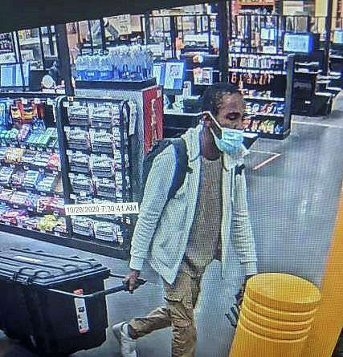 Police are asking the public's help to identify a suspect in a recent larceny at the Home Depot. Police say the theft happened on Tuesday, Oct. 20, 2020.