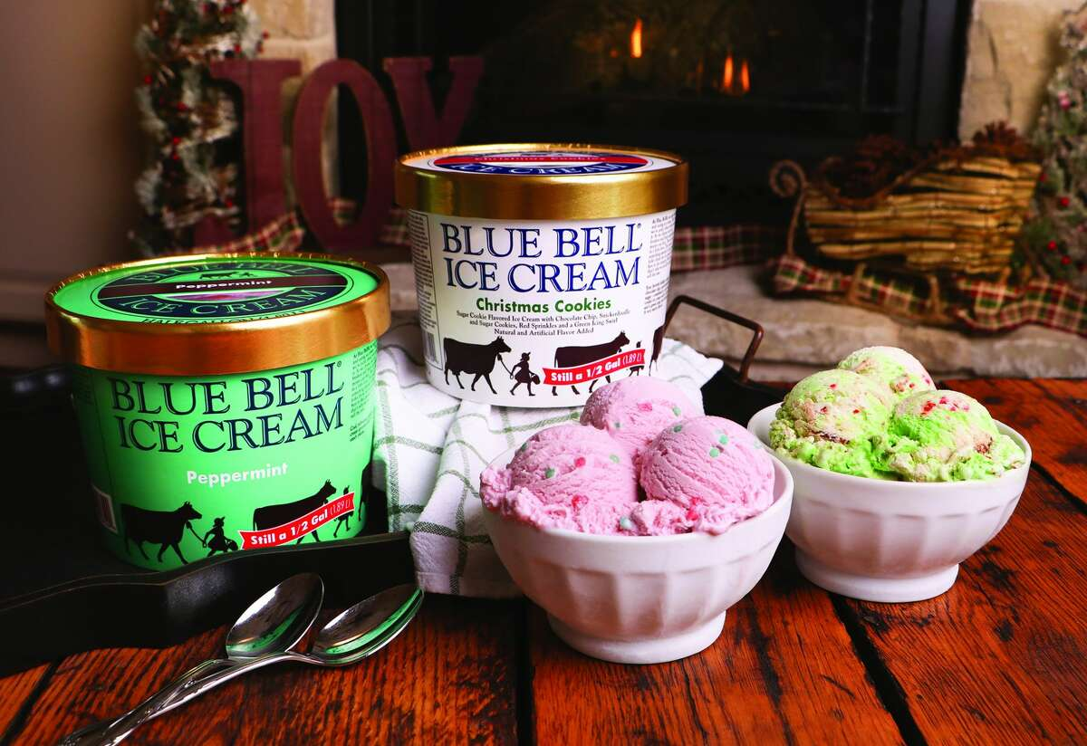 Blue Bell has released two holiday flavors: Peppermint and Christmas Cookies.