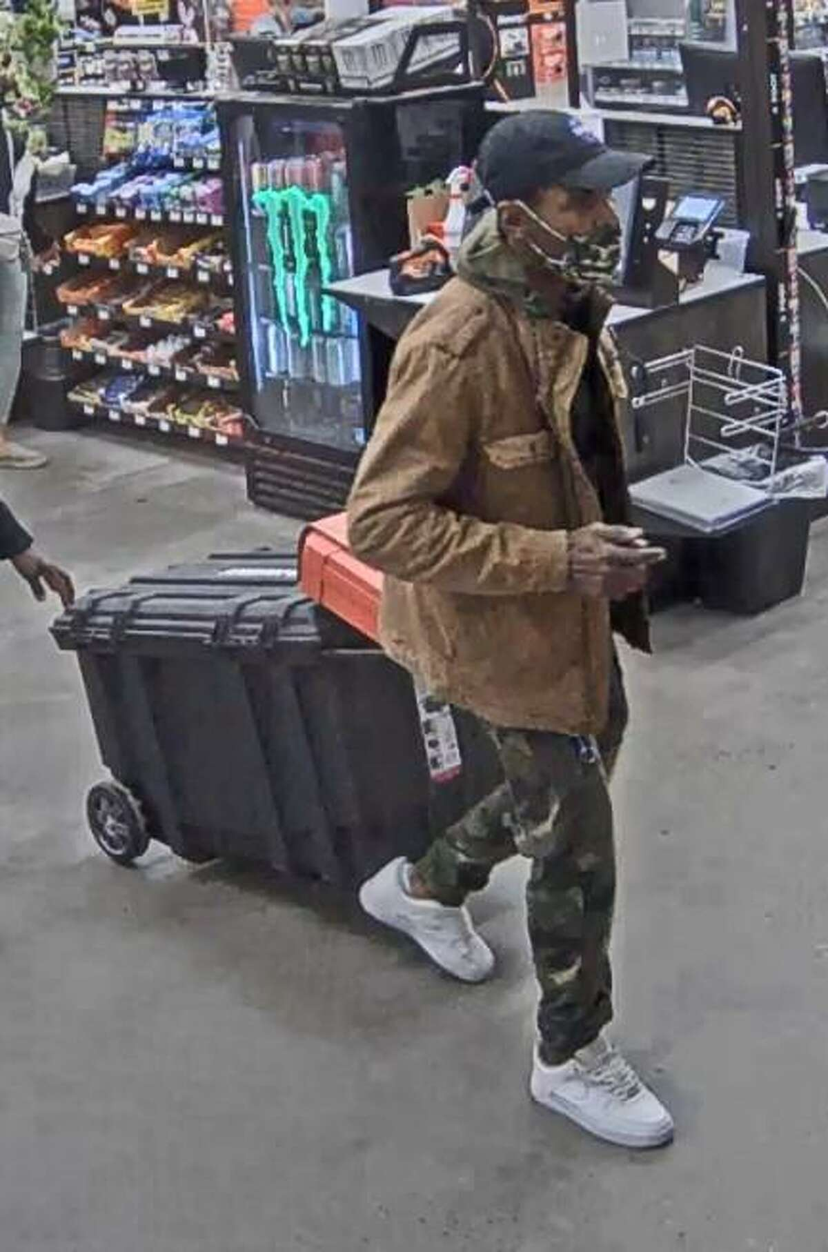 Norwalk police say they are looking for a man who stole items from the Connecticut Avenue Home Depot last week.
